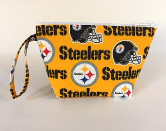 Pittsburgh Steelers Make Up Bag - Sports Teams  - Accessory - Cosmetic Bag - Gift - Football
