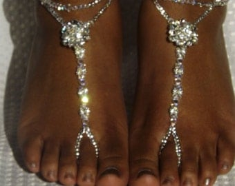 Swarovski Wedding Jewelry Beach Wedding Foot Jewelry Anklet Destination Wedding Bridal Accessorie Bridesmaids Gift