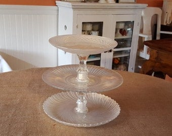 Champagne Gold 3 Tier Dessert Stand / Cupcake stand / Wedding cake stand / Baby Shower Dessert stand