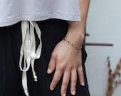 Dainty Black CZ Bracelet-...
