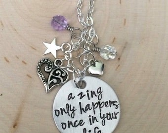 Transylvania, A Zing Only Happens Once In Your Life Inspired Charm Necklace