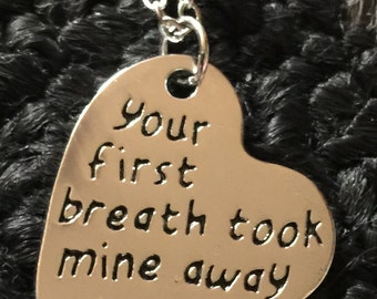 First Breath Heart Necklace
