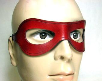 Arsenal Mask / Red Arrow Mask / Leather Mask / Arrow Mask / Arsenal Cosplay / Red Arrow Cosplay / Hero mask / Superhero Mask / Costume/ mask