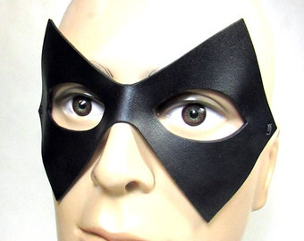 Trickster Leather Mask inspired by DC's The Flash, super villain, super hero in black, works well for other cosplay