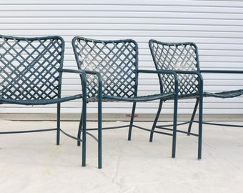 Set of 4 folding patio chairs salterini style by zeejunkhunter for Brown jordan tamiami chaise