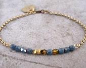 Personalized Charm Bracelet-Initial Charm Bracelet-Monogram Bracelet-Gift Jewelry-Delicate Bracelet-Dainty Bracelet-Free Shipping