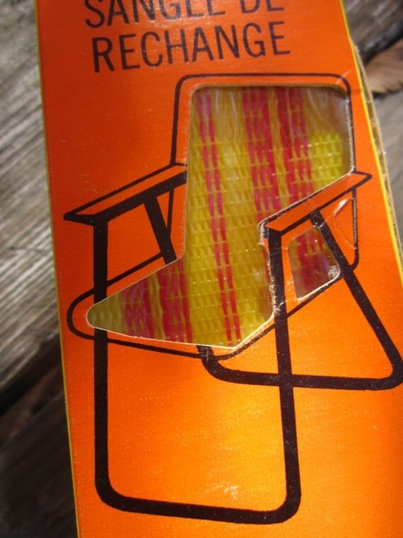 web kit orange yellow 21 feet lawn chair re web kit in. Black Bedroom Furniture Sets. Home Design Ideas