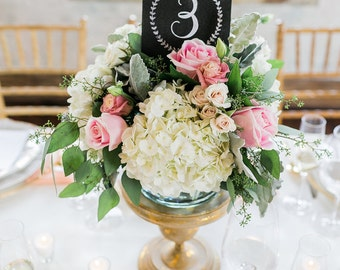 Wedding Table Numbers - Vintage Wedding Table Numbers - Tented Table Numbers- Chalkboard Table Numbers
