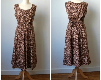 Vintage Sleevless Floral Dress, Women's size M/L