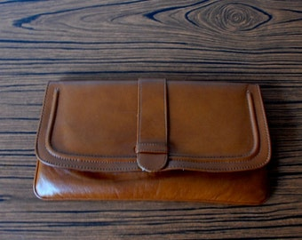 Vintage Vegan Leather Clutch
