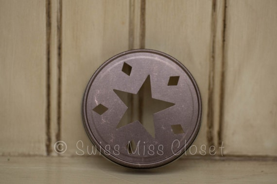 Specialty Bronze Star Cutout Mason Jar Lid Rustic Decor Weddings Party Favors