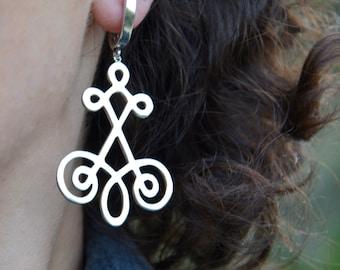 Dangle Silver Earrings, Drop Earrings, Long Earrings, Big Earrings, Handmade