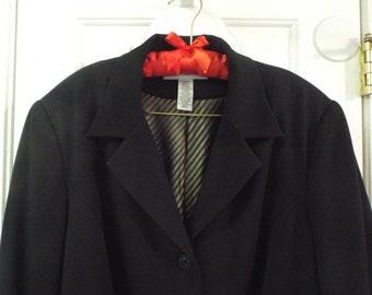 Black Coat Size 20W Fall Winter Fashion Classic All Weather