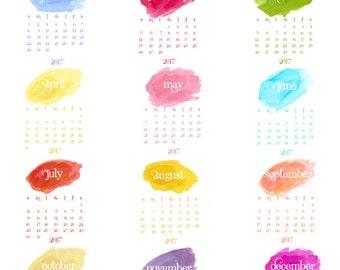 2017 Color Splash Desk Calendar Refill