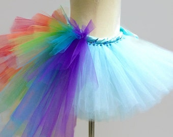 ADULT RAINBOW TUTU Skirt with bustle tail, Dash, Unicorn, Pony, mlp, cosplay, Womans Costume, Party, Women, Ladies
