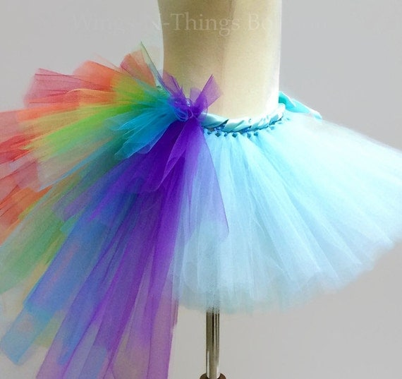 Rainbow Tutu Skirt With Bustle Tail