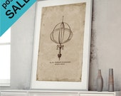 ON SALE Print Poster Technical Drawing Astronomical Instrument  Flattening of Earth Planet