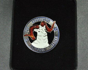 1982 Fur Rendezvous Rondy Anchorage Alaska Dall Sheep Ram Pin Pendant