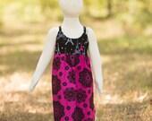 Hot Pink Black Paris Eiffel Tower Dress - Baby Girl