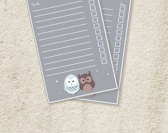 Adorable Owl フクロウ Stationary (Set of 12)