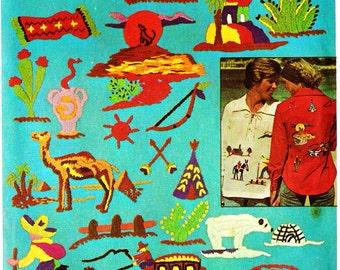 Simplicity 7065 Retro 1970s Southwestern Embroidery Design Pattern