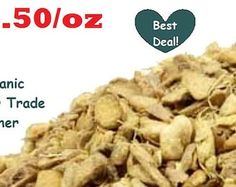 GINGER ROOT - Organic, Fair Trade, Kosher, Non-GMO - 1oz Dried Herb