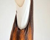 Brown Peacock Tail with Small Paisley Crossbody Bag Boho Hobo Bag Hippie Messenger Bag Cotton Shoulder Bag Women Diaper Bag Sling Bag Purse
