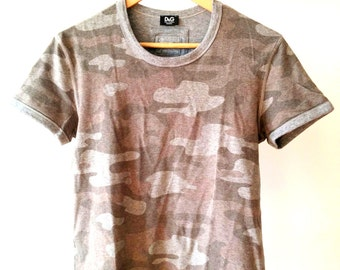 DOLCE & GABBANA Cotton Grey T-Shirt, sz. S
