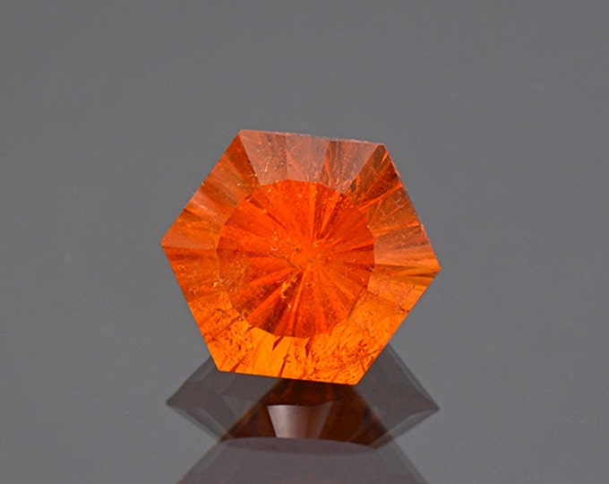 Fiery Orange Spessartine Garnet Gemstone from Nigeria 9.46 cts.