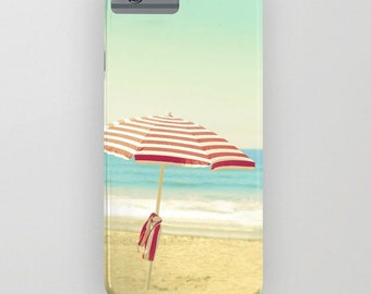 Beach iPhone 6s Case - Cute iPhone 6s Plus Cover - iPhone 5s Case - Umbrella iPhone 5C Case - Ocean iPhone 6 Plus Case - Blue iPhone 6s Case