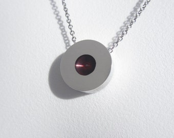 Contemporary Necklace – Contemporary Jewelry – Plum Purple Pendant – Made to Order Necklace