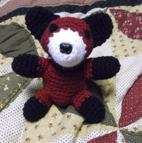 Cute crochet baby fox amigurumi small sitting red fox little