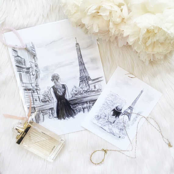 Paris Watercolor, fashion print, vintage art, Paris Print, Eiffel Tower, Paris Art, Paris Print, gifts for her, fashion lover, girly girl