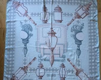 Hermes Authentic Vintage Feux de Route Silk Scarf