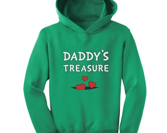 Daddy's Treasure Father's Day Gift Toddler-Kids Hoodie