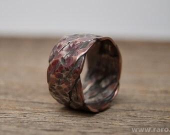 Handmade copper ring. Rawstyle