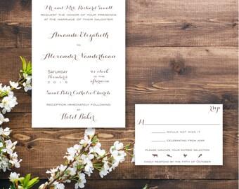Printable Clean Typography Invitation