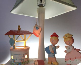 Vintage Irmi Nursery Rhyme Lamp Jack and Jill