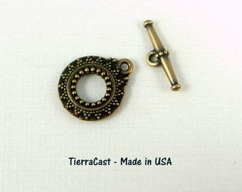 TierraCast - Bali Toggle Clasp - Oxidized Brass (TC-6061-27)