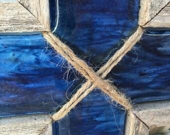 Fused Glass Cordless Lightbox Cross