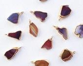 Australian Agate Necklace . red purple rainbow gemstone necklace . September birthstone . Australian jewellery