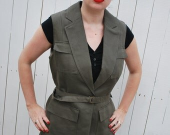 Safari Vest/ Jacket, Steampunk Explorer, Uniform