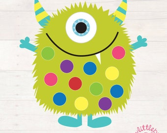 Little Monster Pom Pom Learning Mats AUTOMATIC DOWNLOAD