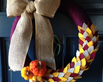 Felted Fall Wreath