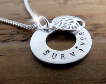 Tree of Life Semicolon Necklace, Survivor Semicolon Necklace, Silver Semicolon Necklace, Believe Semicolon Necklace, Warrior Necklace
