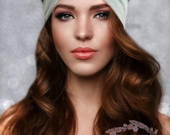 Gray Turban Headband Yoga Headband Boho Headband Womens Headwrap Twist Turban Headband Womens Hair Accessories