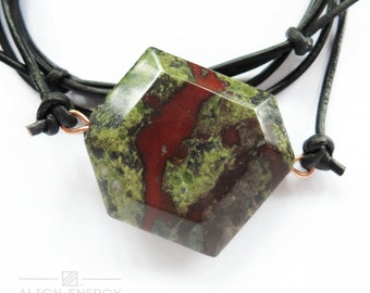 Vigilance Pendant from Align Energy with Natural Dragon Blood Jasper Gemstone /// Align Energy Gemstone Energy Pendant /// Mineral Necklace