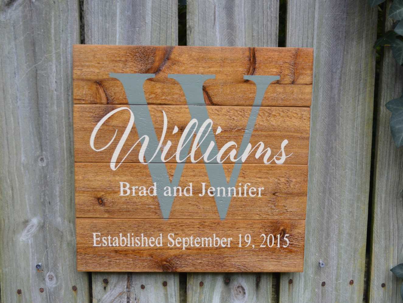 Wedding Gift Signs: Personalized Wedding Gift Custom Name Sign Cedar Last Name