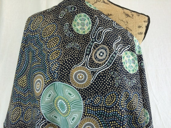 Australian aboriginal print fabricspirit people in for Star fabric australia