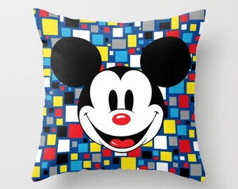 Mickey Mouse Pillow with insert, Mickey Mouse Clubhouse, Mickey Pillow, Mickey Cushion